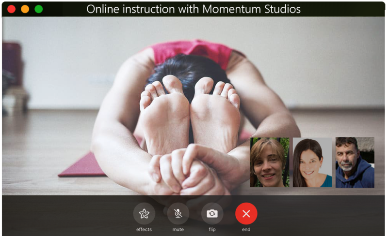 Momentum Pilates virtual classes